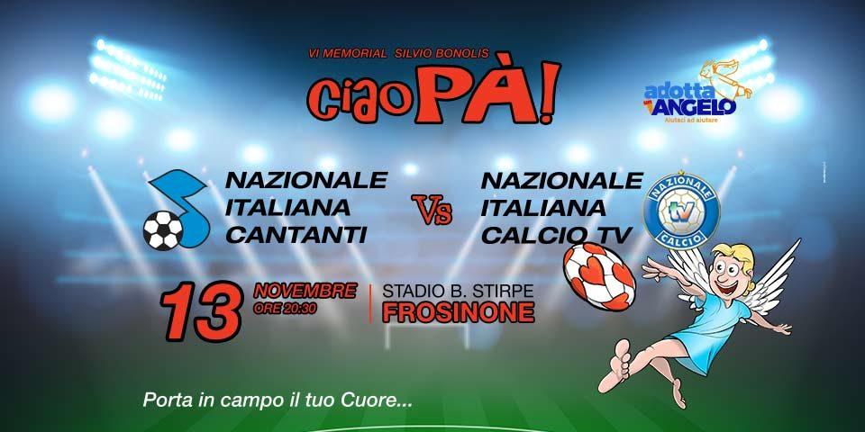 NAZIONALE ITALIANA CANTANTI E NAZIONALE CALCIO TV IN CAMPO PER SOSTENERE il Ce.R.S. Onlus
