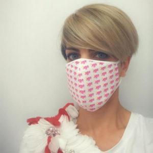 mascherina solidale sdl.tv a sostegno del progetto Adotta un Angelo
